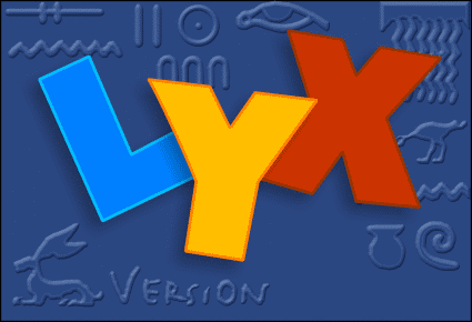 Hyperlink on http://www.lyx.org. Source and graphic license: http://wiki.lyx.org/uploads/LyX/SplashScreen/ and http://wiki.lyx.org/LyX/SplashScreen and http://wiki.lyx.org/LyX/Logotype
